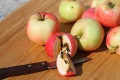 Натюрморт: яблоки и оси Стоковое Изображение