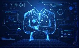 Наука абстрактного здоровья медицинская состоит futuristi доктора цифровое иллюстрация штока