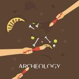 Наука археологии Старые ископаемые Открывать кувшин, артефакты охотников за сокровищами старые историческо бесплатная иллюстрация