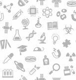 Наука, безшовная предпосылка, белизна, вектор Стоковое Изображение RF