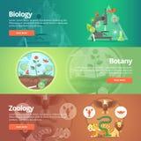 Наука биологии Естественная наука Vegetable жизнь Знание ботаники Животная планета зоология звеец Мир живой природы иллюстрация вектора