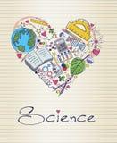 Наука в форме сердца иллюстрация штока
