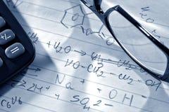 наука исследования лаборатории формул химии Стоковая Фотография