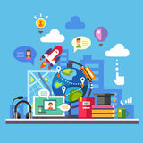 Наука и современная технология иллюстрация штока