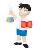 наука мальчика Стоковые Изображения RF