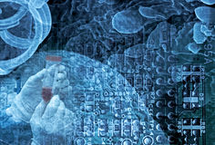 наука нанотехнологии Стоковое фото RF
