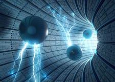 наука небылицы предпосылки Стоковая Фотография