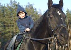 наука riding horseback Стоковые Фотографии RF