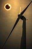 Научное естественное явление Полное солнечное затмение с диамантом Стоковое Изображение RF