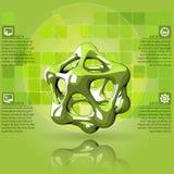 Научное зеленое infographics Стоковое Изображение