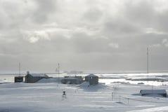 научно-исследовательская станция Антарктики стоковая фотография rf