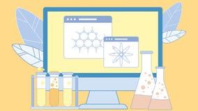 Научный, иллюстрация оборудования химии плоская иллюстрация штока