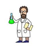 Научный работник на работе Стоковое Изображение