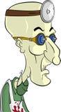 научный работник персонажа из мультфильма сумашедший иллюстрация вектора