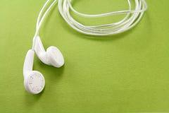 наушники белые Стоковая Фотография RF
