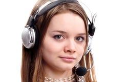 наушники девушки подростковые Стоковое Изображение RF