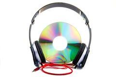 Наушники компактного диска Стоковая Фотография RF