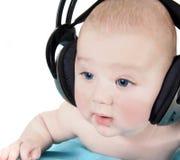 наушники младенца Стоковое Изображение