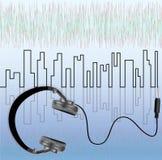 Наушники музыки иллюстрация вектора