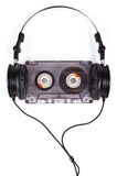Наушники на компактной кассете Стоковые Изображения RF