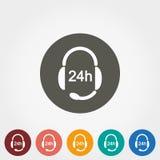 Наушники с микрофоном Поддержка 24 часа бесплатная иллюстрация