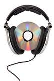 наушники тональнозвукового компактного диска Стоковые Изображения RF
