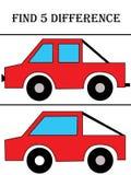 находка 5 разницы стоковое изображение rf