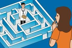 Находить правый доктор Иллюстрация вектора