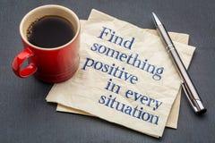 Находка что-то положительное в каждой ситуации Стоковые Фотографии RF