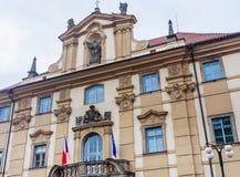 Национальная библиотека в историческом комплексе Klementinum стоковые фотографии rf