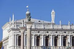 Национальная библиотека ` s Biblioteca Marciana St Mark, фасада, Венеции, Италии Стоковые Фото