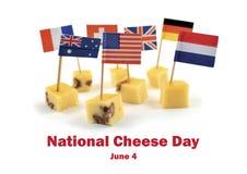 Национальная иллюстрация дня сыра стоковая фотография rf
