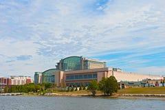Национальная панорама гавани с курортом Gaylord в Мэриленде, США стоковые фото