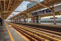 Национальная станция skytrain стадиона в Бангкоке Стоковые Фотографии RF