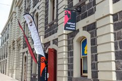 Национальное здание музея шерстей в Geelong, в Австралии стоковые фото