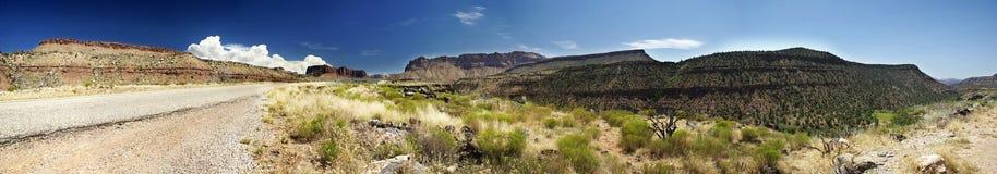национальное панорамное zion парка Стоковая Фотография