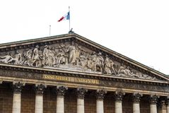 Национальное собрание в Париже стоковая фотография rf