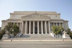 Национальные архивохранилища строя в фронте Вашингтон Стоковое Изображение RF