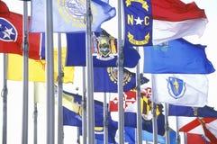 Национальные флаги Америка стоковая фотография rf