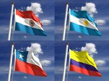 Национальные флаги Стоковое Изображение