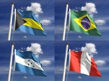 Национальные флаги Стоковые Изображения