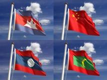 Национальные флаги Стоковое Фото