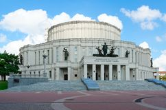 Национальный академичный грандиозной театр оперы и балета Республики Беларусь, Минска стоковое фото rf