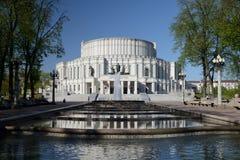 Национальный академичный театр оперы и балета Беларуси в Минске стоковая фотография