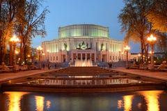 Национальный академичный театр оперы и балета Беларуси в Минске стоковые изображения