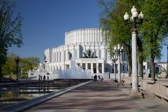 Национальный академичный театр оперы и балета Беларуси в Минске стоковые изображения rf