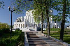 Национальный академичный театр оперы и балета Беларуси в Минске стоковое изображение