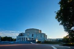 Национальный академичный театр оперы и балета Bolshoi Республики Беларусь в Минске, Беларуси стоковые изображения rf