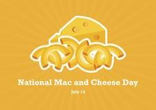Национальный вектор дня Mac и сыра стоковое фото