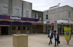 Национальный Вестминстер и банки HSBC в Bracknell, Англии Стоковые Изображения